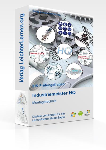 Digitale Lernkarteikarten Industriemeister HQ - Montagetechnik (MT)